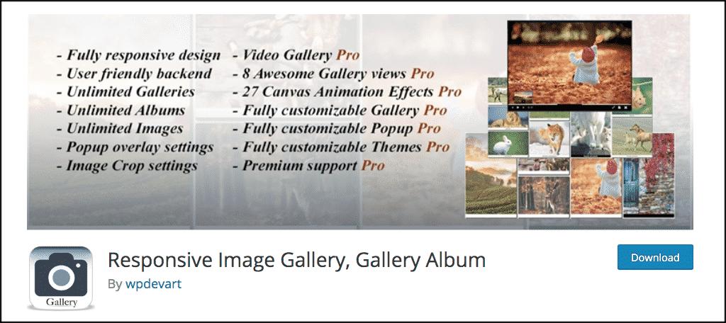 Responsive image gallery plugin
