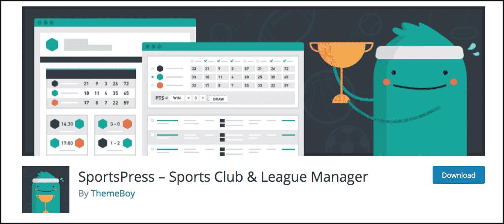 SportsPress plugin
