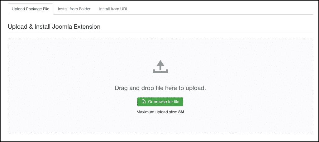 Upload joomla contact form extension