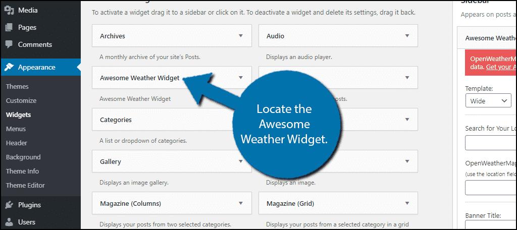 WordPress Weather Widget
