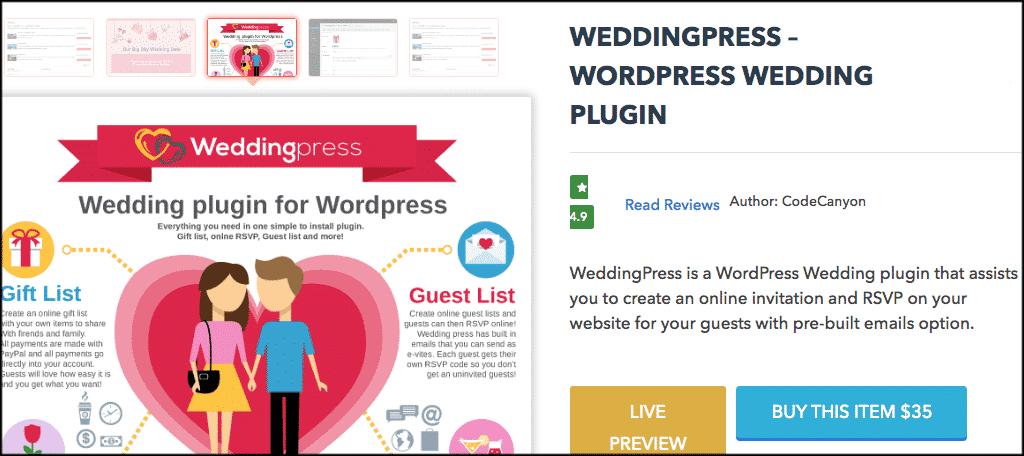 Wedding press plugin