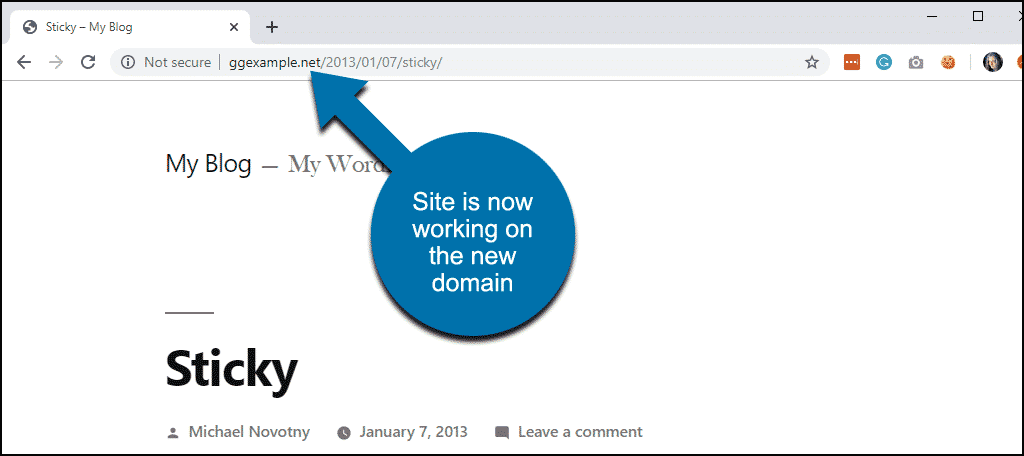 the URLs in the database have changed