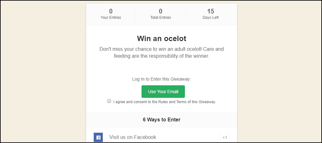 contest in page