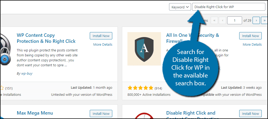 Disable Right Click For WP
