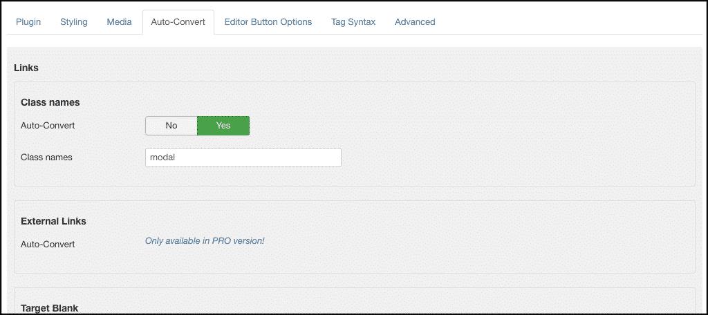 Auto convert tab