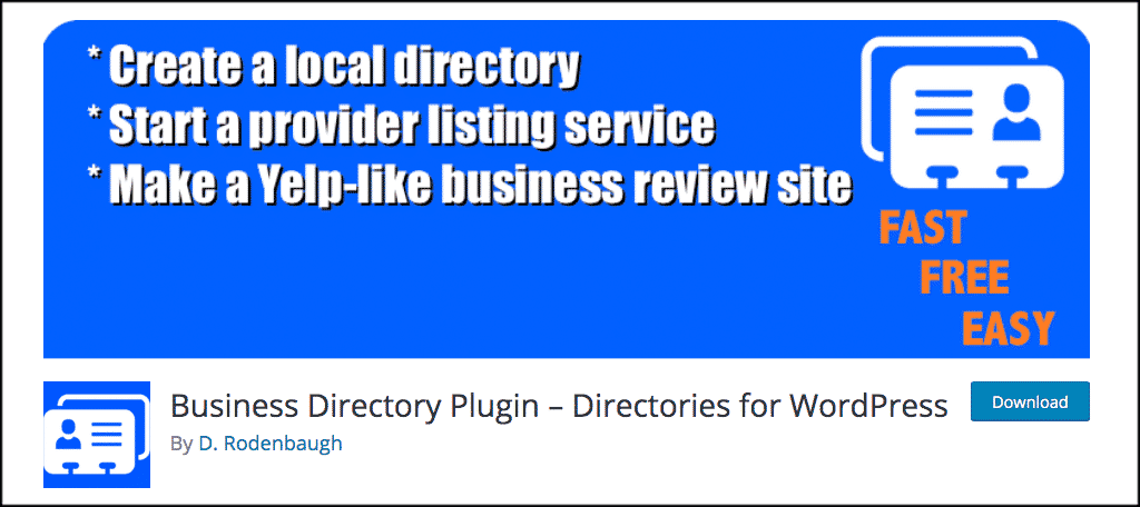 Business directory for professional website