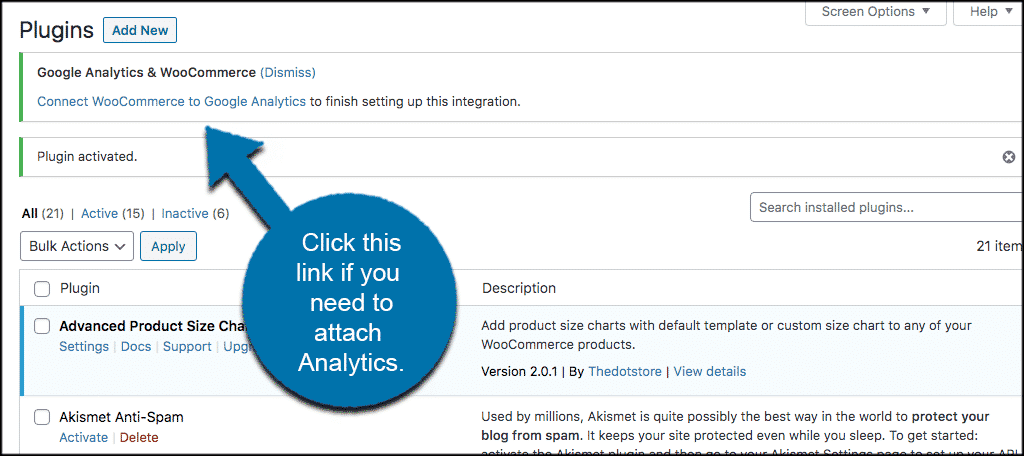 Connect to google analytics
