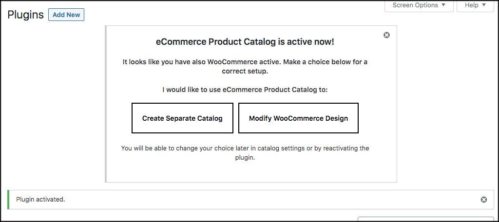 Decide on what catalog to create