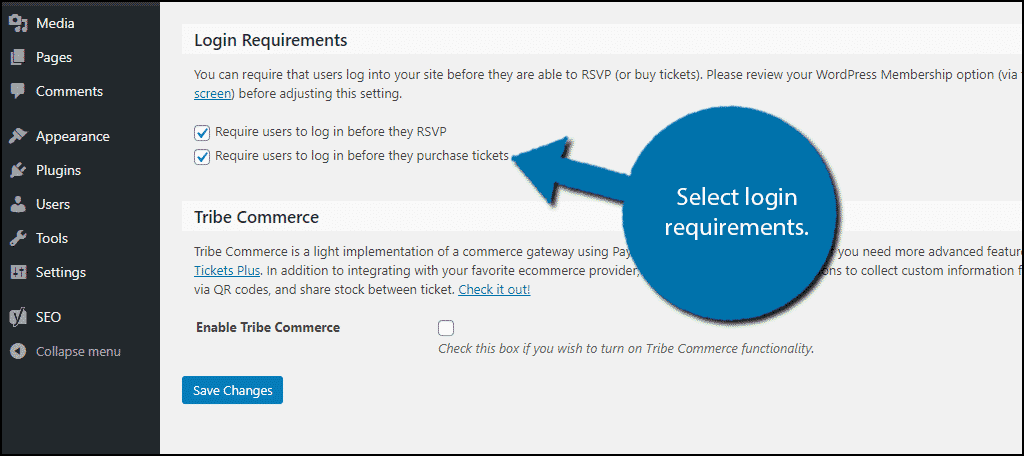 Login Requirements