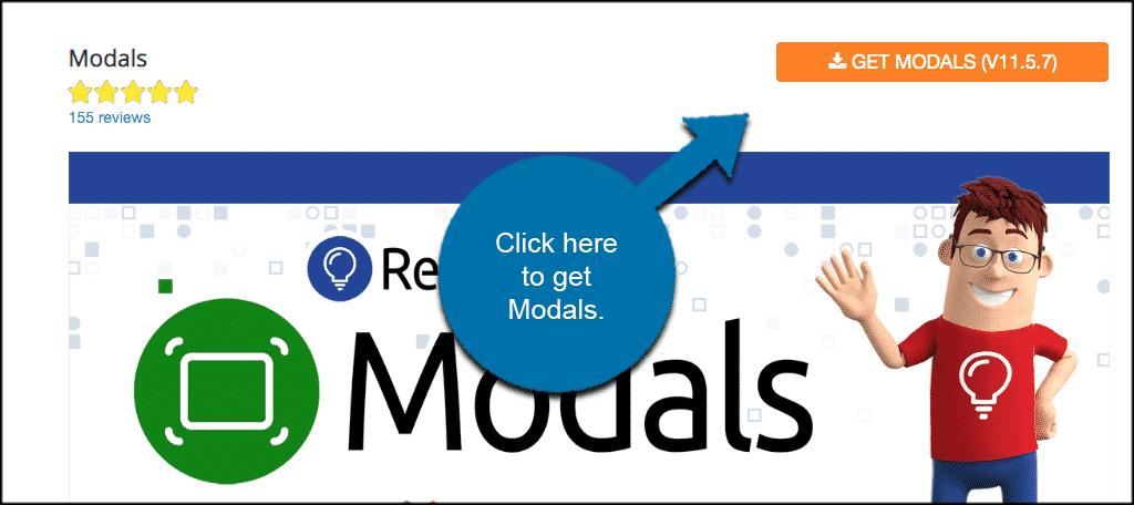 Get Modals Joomla popup extension