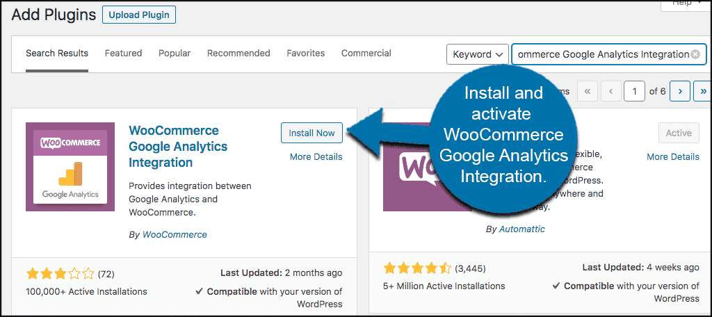 Install and activate woocommerce google analytics plugin