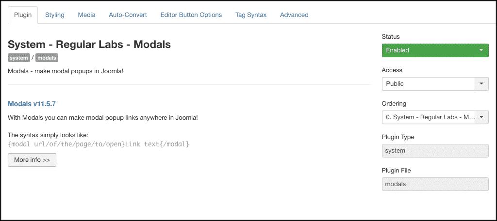 Joomla popup box plugin