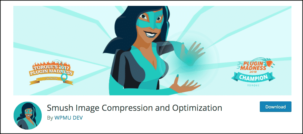 Smush image compression for personal website
