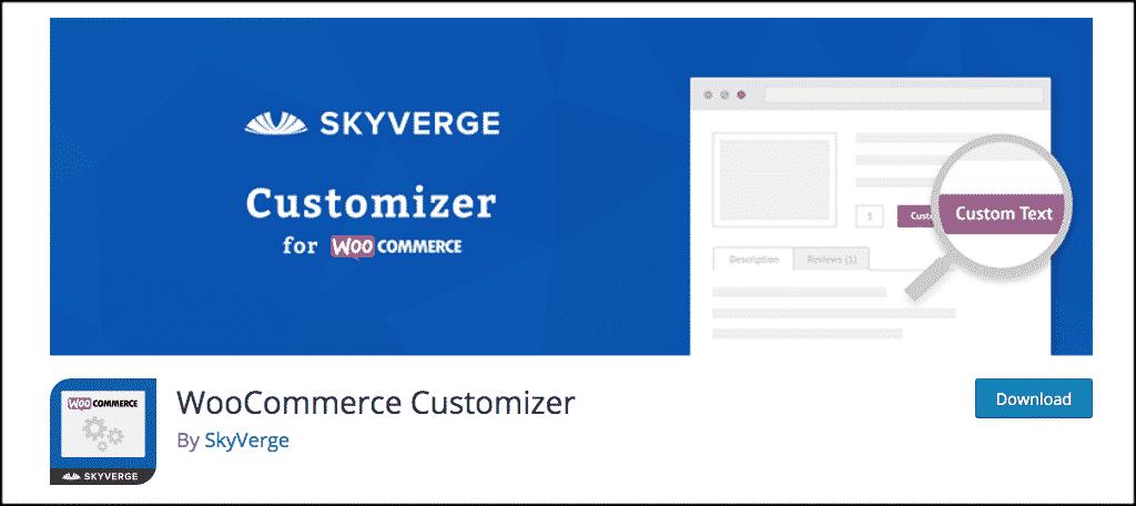 WooCommerce customizer plugin