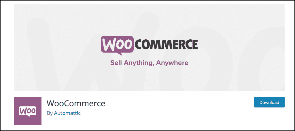 WooCommerce plugin for creating a small business website