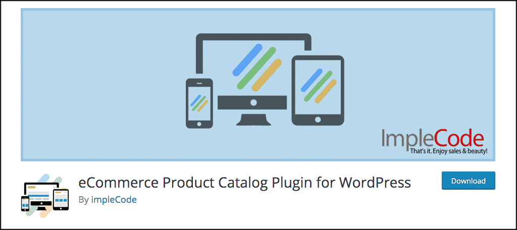 eCommerce product catalog for wordpress