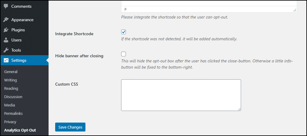 """options in the """"Use Banner"""" box"""