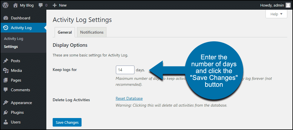 """click the """"Save Changes"""" button"""
