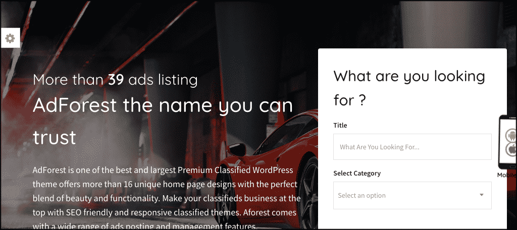 AdForest Theme to create auction website