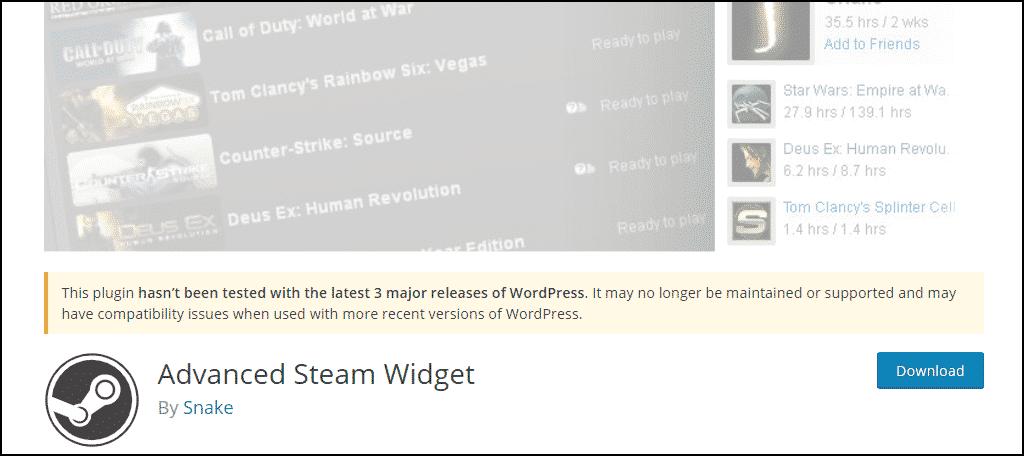 Advanced Steam Widget