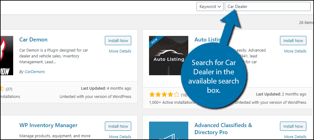 Car Dealer Plugin