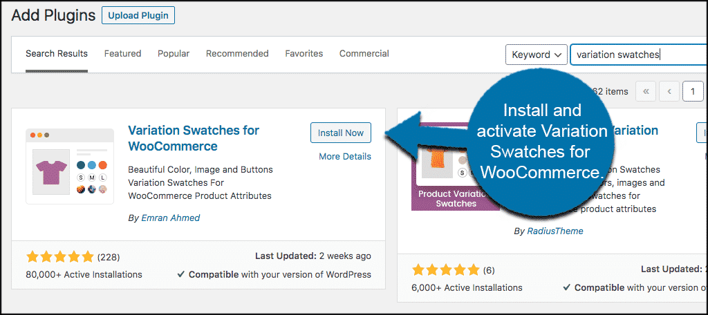 Install and activate woocommerce product variations plugin