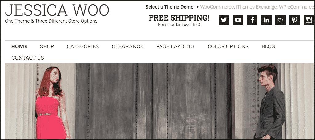 Jessica ecommerce website theme