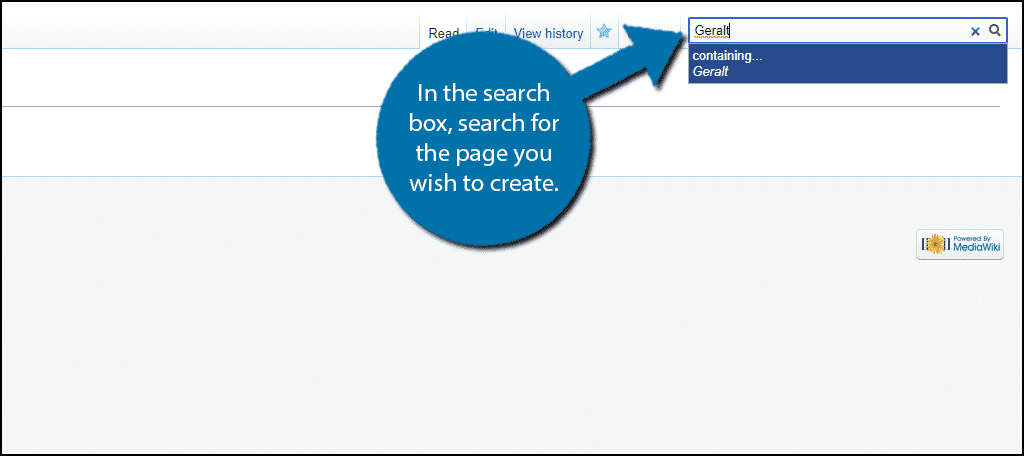 Search for Page