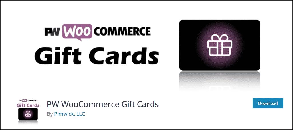 PW WooCommerce gift card plugin