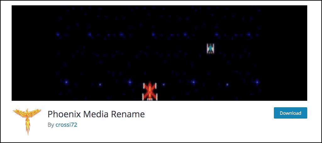 Phoenix Media Rename Plugin
