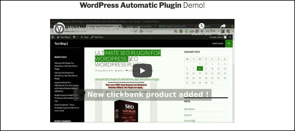 WordPress Automatic plugin for create auction website