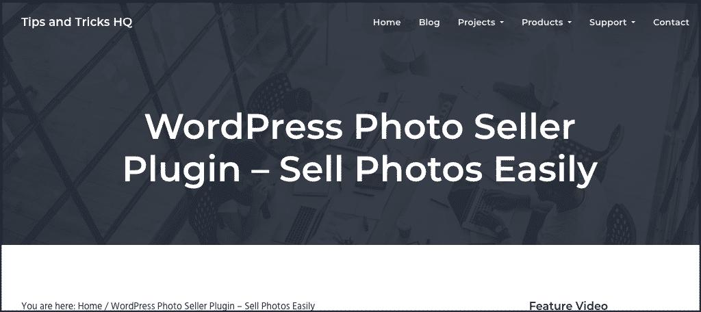 WordPress photo seller plugin