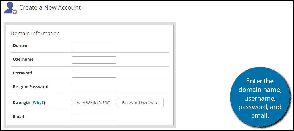 enter information
