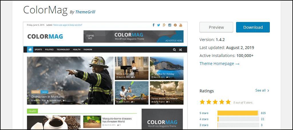 ColorMag WordPress theme