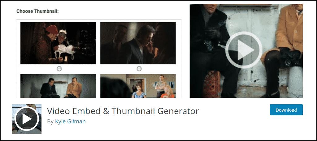Video Embed & Thumbnail Generator WordPress plugin