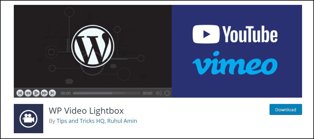 WP Video Lightbox WordPress plugin