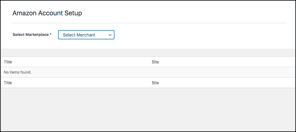 Account tab