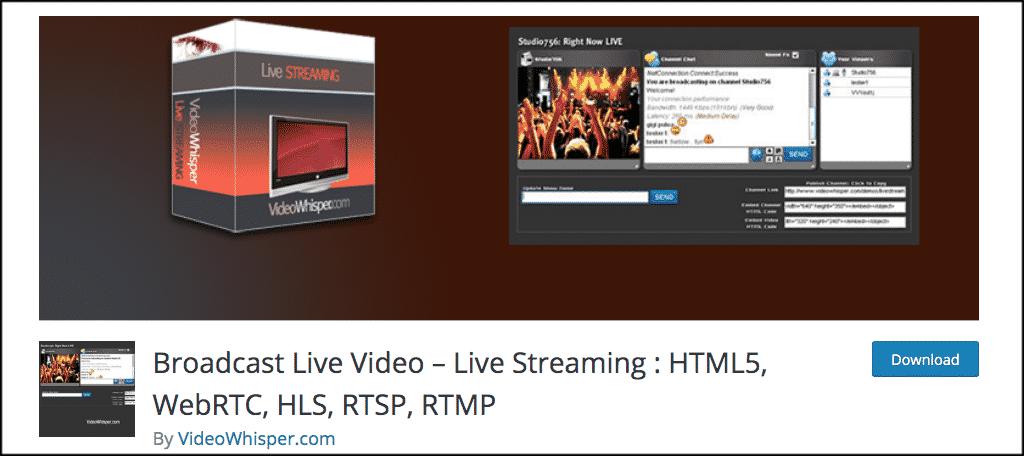 Broadcast Live Video Plugin