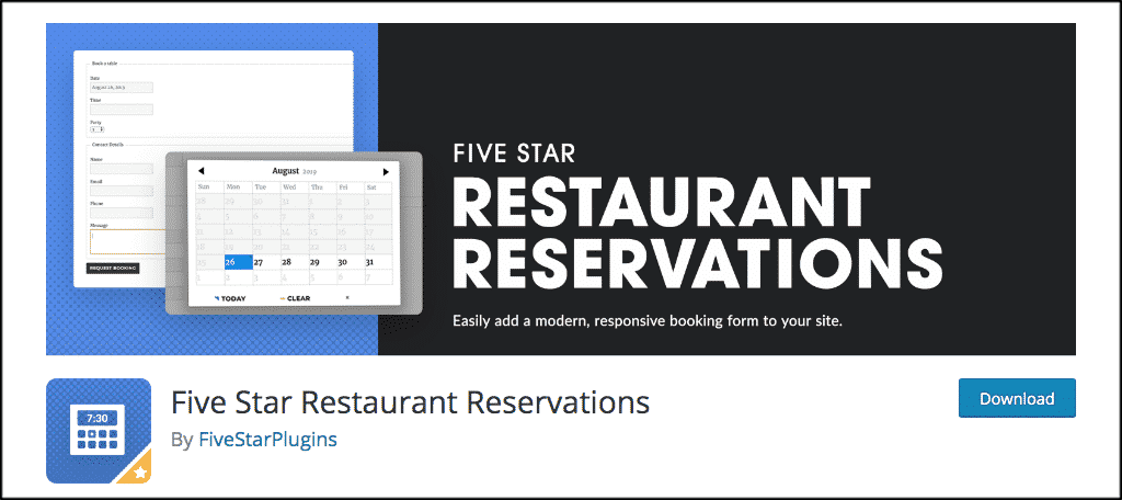 Five star restaurant reservations