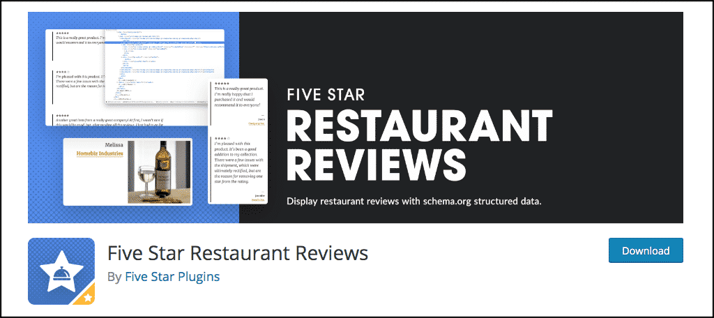 Reviews plugin to make a restaurant website