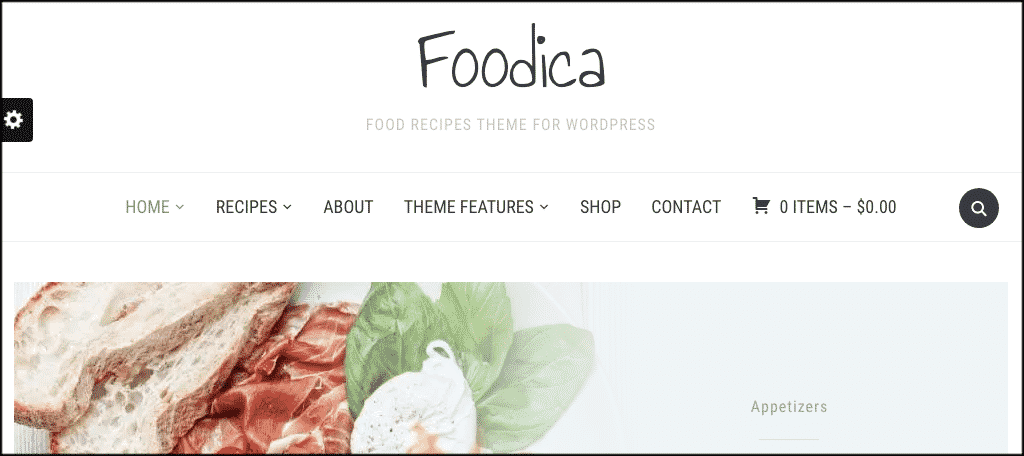 Foodica theme to make a restaurant website