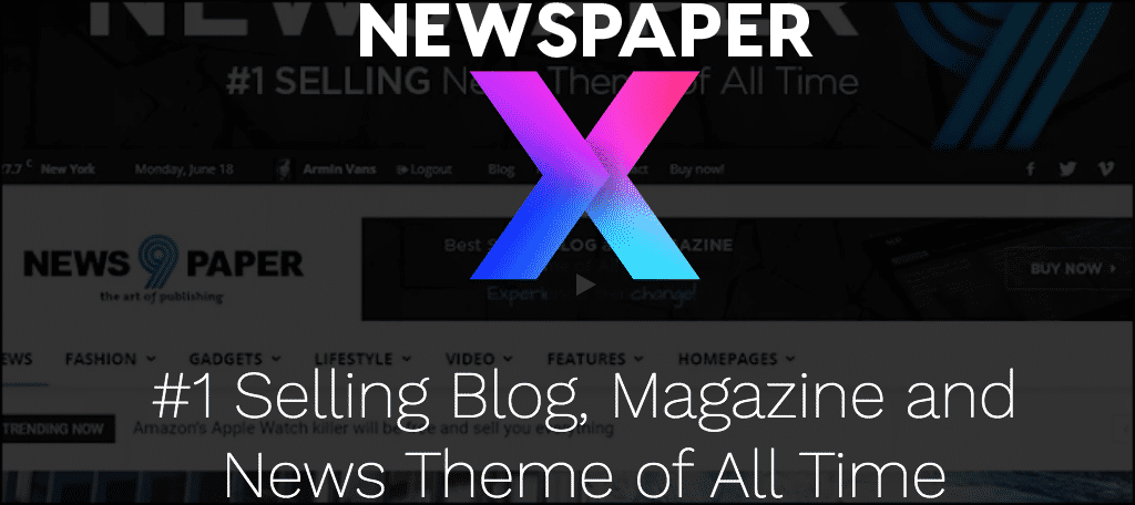 Newspaper theme for making a news website
