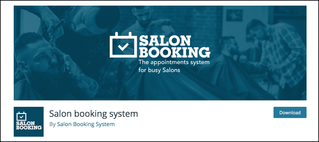 Salon booking system plugin