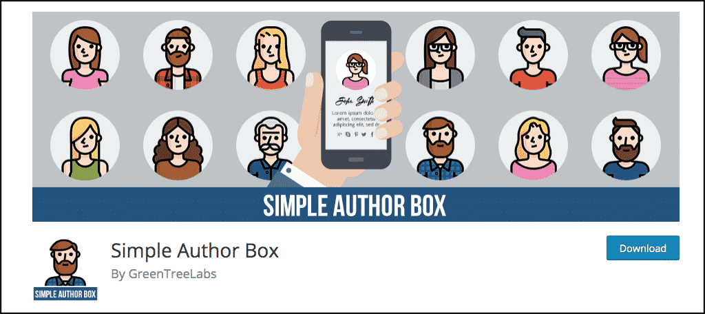 Show author box plugin
