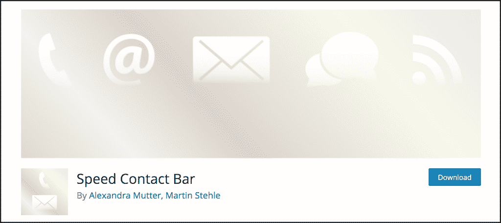 Speed Contact Bar plugin