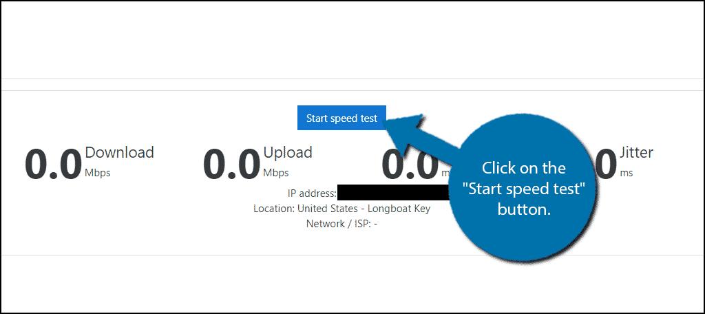 Start Speed Test