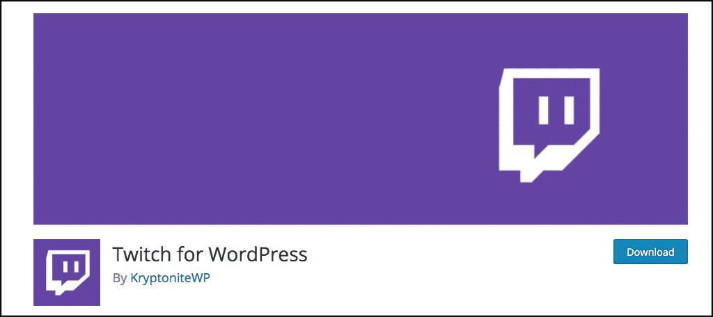 Twitch WordPress plugin