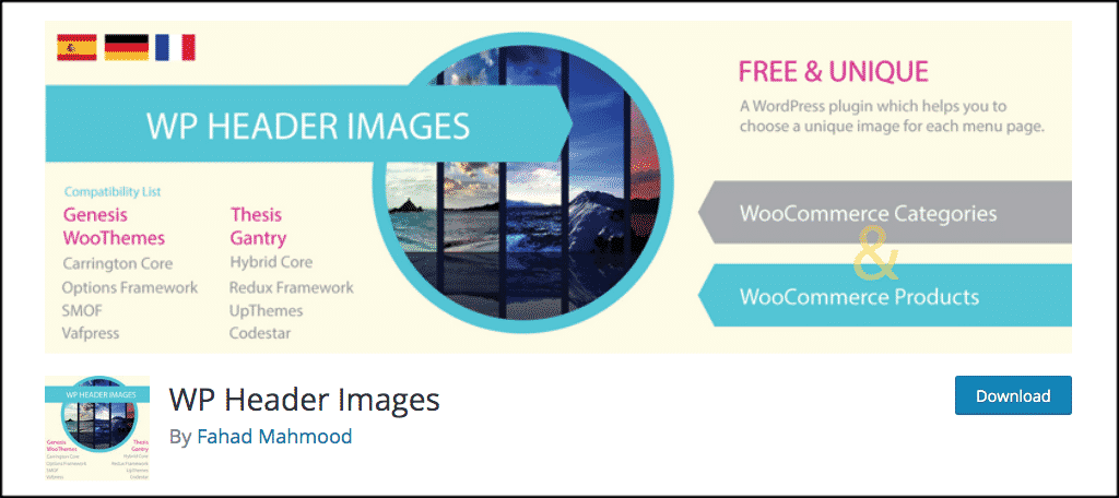 WP header images plugin