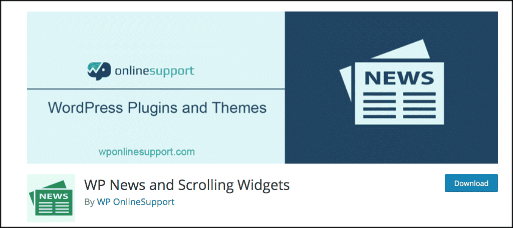 WP News and Scrolling Widget plugin