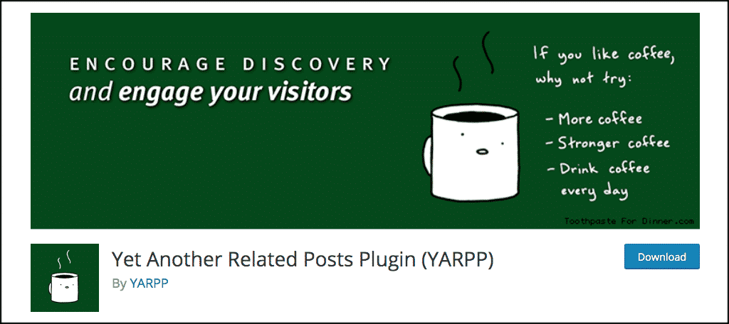 Make a news website with yarpp plugin